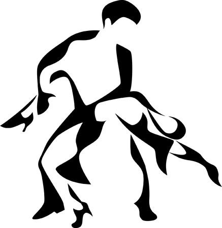 latin dancers Illustration