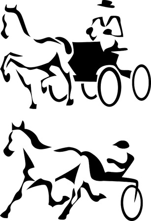 trotter and harness racing Vector