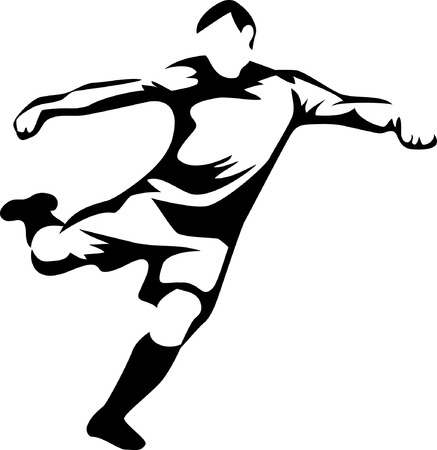 soccer player Stock Vector - 24990316