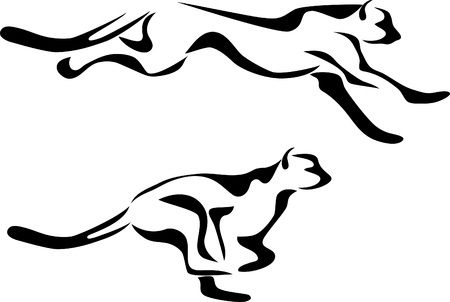cheetah: stylized running cheetah