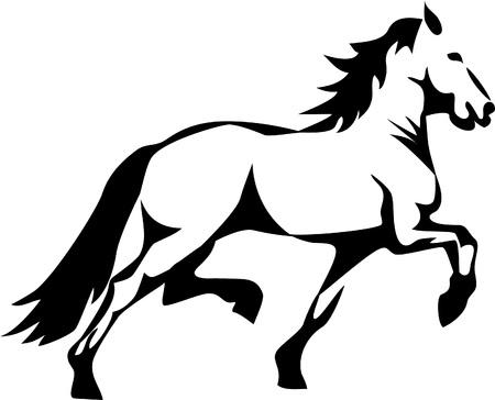 trotando: caballo el trotar Vectores