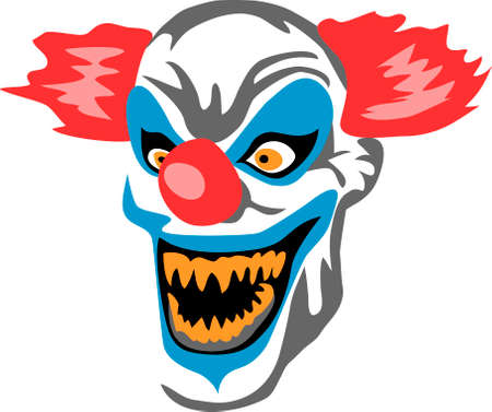 creepy monster: scary clown