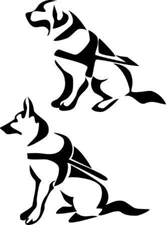 Blindenhund  Illustration