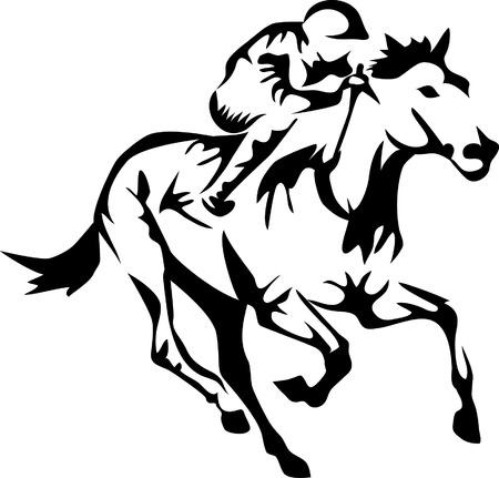 caballo jinete: carreras de caballos