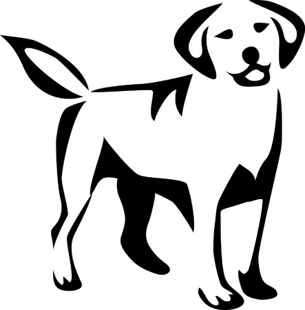 stylized labrador retriever Vector