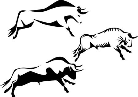 bull fighting: stylized bull
