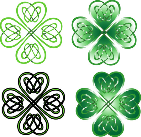 gaelic: four leaf clover - celtic ornament