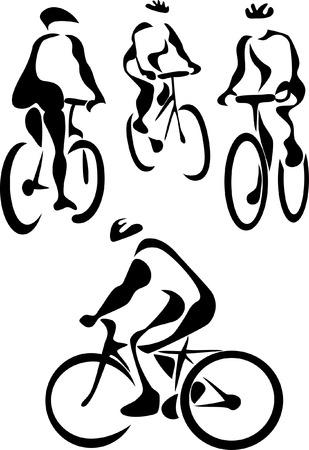 bicycling: stylized cyclist