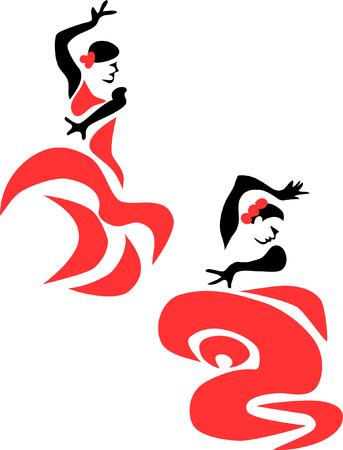 stylized flamenco dancer Vector