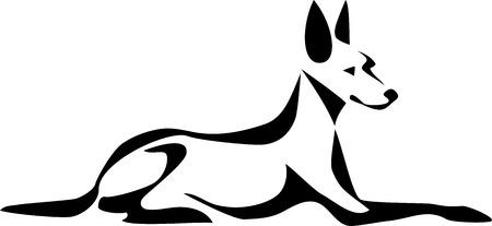 stylized pharaon dog Illustration