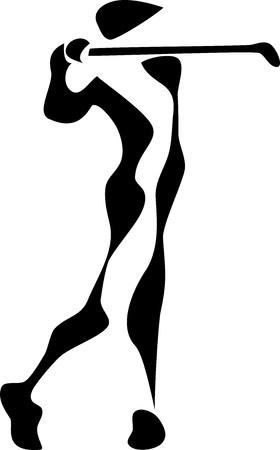 golf player: stylized golf player