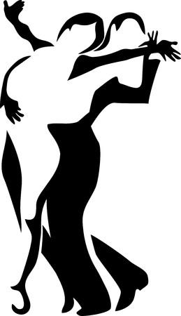 latin dancer: stylized latin dancers