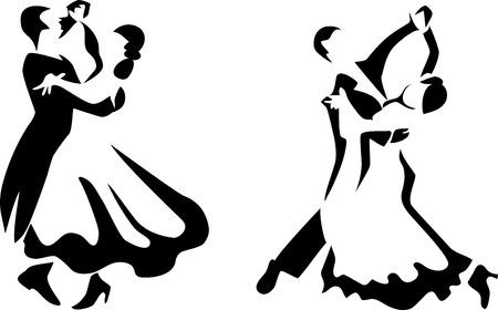 標準的な様式化されたダンサー