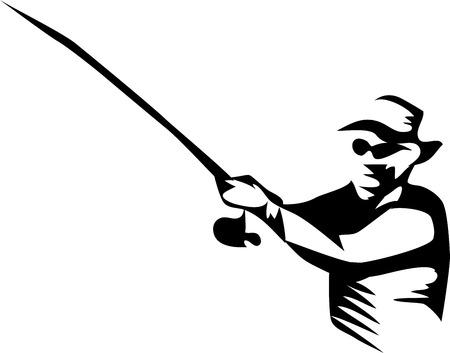 漁師 - 様式化された図  イラスト・ベクター素材