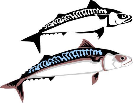 mackerel: stylized mackerel