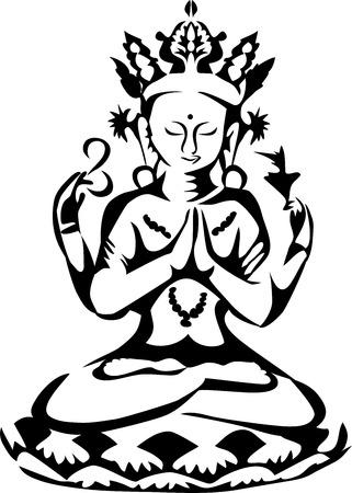 bodhisattva: Avalokitesvara Illustration