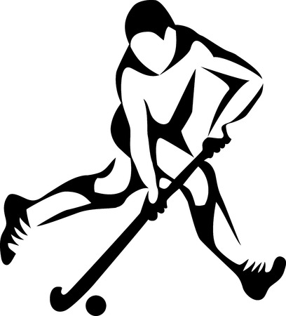 field hockey player Ilustracja