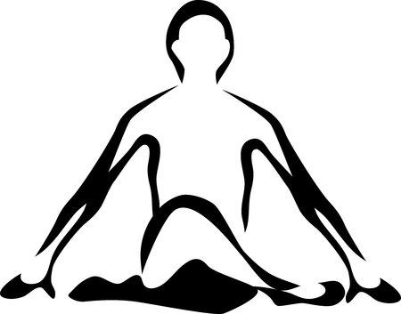 pose: yoga pose - stylized illustration
