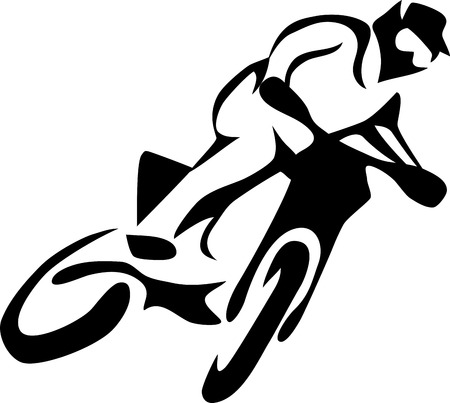 dirt bike: motocross rider Illustration
