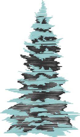 fir tree: fir tree with snow