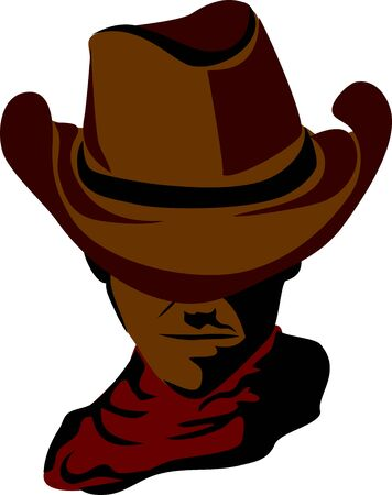 rancher: cowboy with hat Illustration