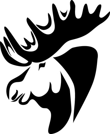 wildlife reserve: head of moose
