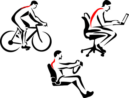 chiropractor: backache Illustration