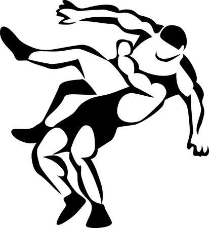 wrestlers Illustration