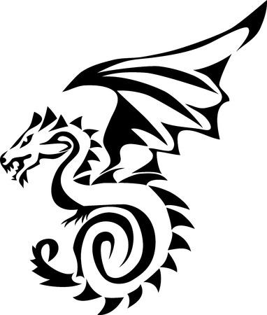 dragon - stylized illustration