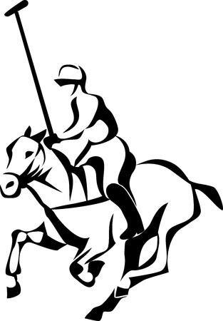 polo player: Horse polo player