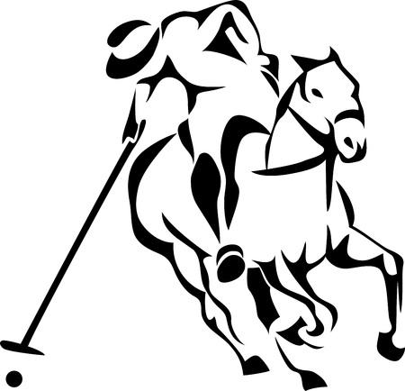 Horse polo player