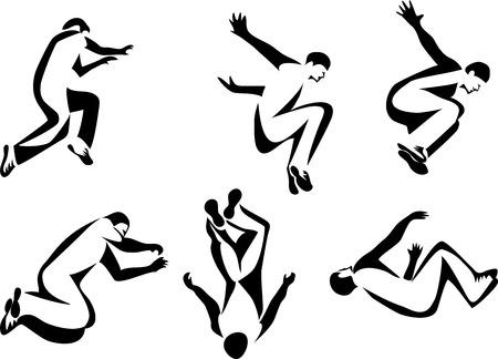 Parkour - stylized illustrations