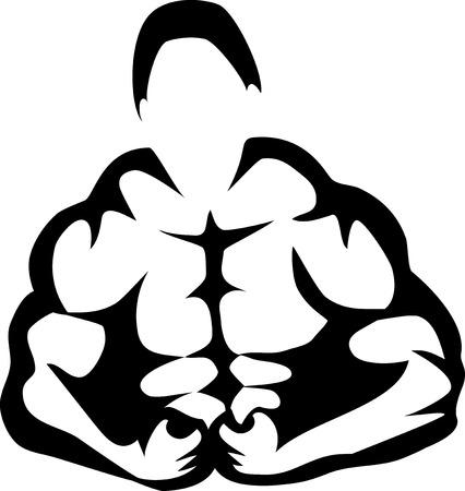 exercise silhouette: Bodybuilder