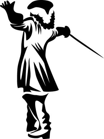European medieval musketeer.