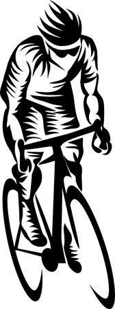 road cyclist Ilustração