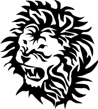 Head of the lion Ilustração