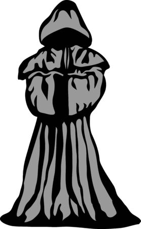 Robed person - two colors vector illustration Stock Illustratie