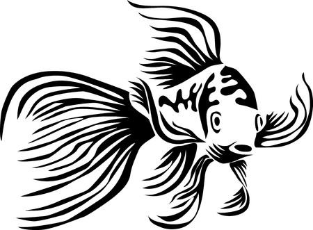 butterfly koi - stylized vector illustration