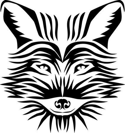 Fox  stylized vector illustration of the head