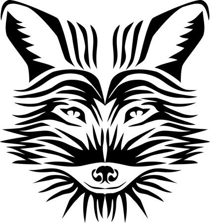Raposa estilizada ilustração vetorial da cabeça Foto de archivo - 93799411