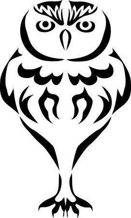 Owl - stylized illustration.