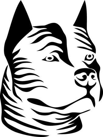 American staffordshire bullterrier Vector illustration. Ilustração