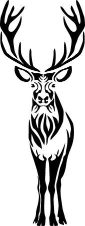 Bull elk - vector illustration