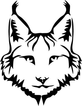 Head of lynx - stylized vector illustration