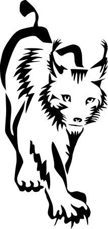 lynx - stylized vector illustration