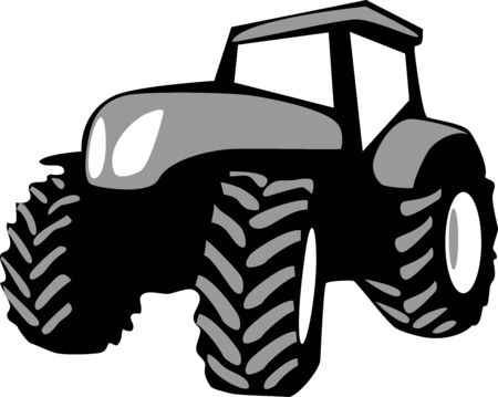 Tractor - stylized vector illustration