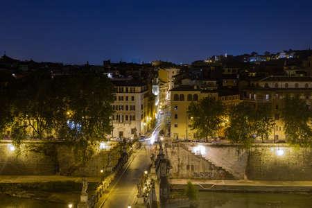 St. Angelo Bridge Rome Italy City Center 版權商用圖片