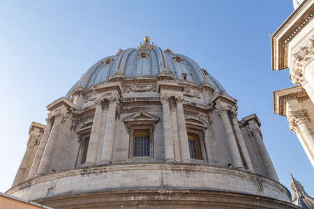 The Dome of Papal Basilica of Saint Peter in the Vatican, Rome