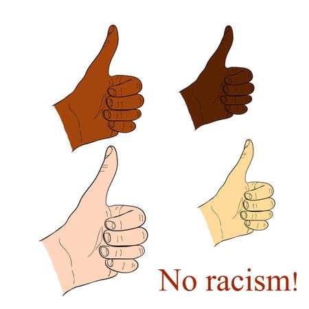 brotherhood: no racism Illustration