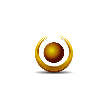 Abstract Vector Design Element - Metal O sphere template